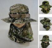 Floppy Boonie Hat Hardwood Camo Snap Up Face & Neck Cover