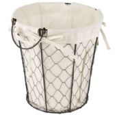 Wire Basket With/ cotton Liner