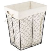 Rectangle Wire Basket W/cotton Liner