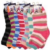 Fuzzy Socks Stripes Assorted Colors