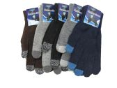 Mens Wool Touch Screen Thermal Winter Gloves