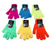 Neon Color Stretch Winter Gloves Unisex