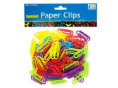 Jumbo Colored Plastic Paper Clips