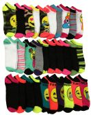 30 Pairs of WSD Womens Ankle Socks, Low Cut Sports Sock - Assorted Styles