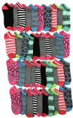 Wholesale Bulk Womens Colorful Sport Ankle Socks (30 Pairs Animal Print Low Cut)