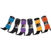 Womens Warm Winter Leg Warmers, Soft Colorful and Trendy (6 PACK ASSORTED B)