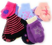 Colorful Cute Toddlers Assorted Mittens 2-Pack