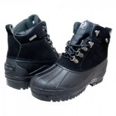 Mens Warm Waterproof Winter Snow Boot In Black
