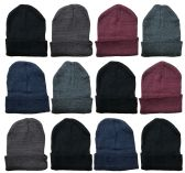 Yacht & Smith Assorted Unisex Winter Warm Beanie Hats, Cold Resistant Winter Hat