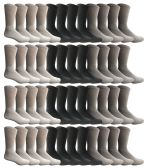 Yacht & Smith Men's Sports Crew Socks, Assorted Colors Size 10-13 BULK PACK
