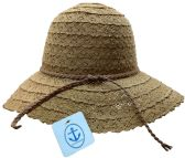 Yacht & Smith Cotton Crochet Sun Hat Soft Lace Design, Style A - Coffee