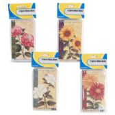 4 Pack Floral Pattern Memo Books