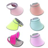 Women's Sun Hat Visor Shield in 6 Assorted Colors