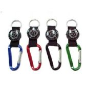 KEYCHAIN CARABINER WITH COMPASS