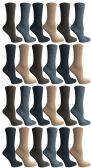SOCKS'NBULK Womens Crew Socks, Bulk Pack Assorted Chic Textured Socks, Multicolored