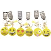 Assorted Emoji Face Bling Key chain