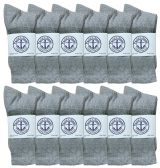 Yacht & Smith Women's Premium Cotton Crew Socks Gray Size 9-11 BULK PACK