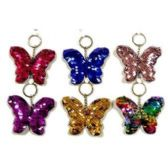 REVERSIBLE SEQUINS BUTTERFLY KEYCHAIN