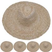 Adults Large Brim Straw Hat