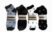 Mens Light Weight Ankle Socks, Printed Performance Athletic Socks Size 10-13 Anchor Printed Socks