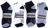 Mens Light Weight Ankle Socks, Printed Performance Athletic Socks Size 10-13