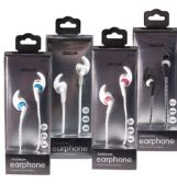 Fashion Headphone Earbuds in 4 Assorted Colors