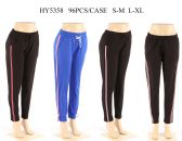 Womens Joggers In Assorted Color With Stripe