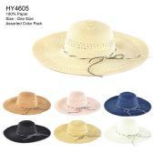 Womens Paper Sun Hat Assorted Color