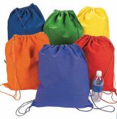 Assorted Colors Draw String Cinch Bag 13 Inch