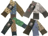 Mens Assorted Pattern Dress Socks Size 10-13
