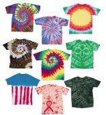 Adult TiE-Dye T-Shirts In Assorted Colors And Sizes