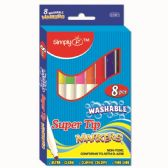 Eight Piece Washable Markers Super Tip