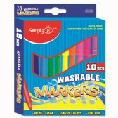 Eighteen Piece Washable Markers