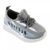 Kids Blessed Jogger In Gray And White