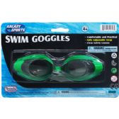 "6"" Swimming Goggles On Blister Card, 3 Assorted Colors"