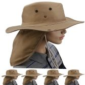 Quick Dry Camping Neck Flap Brown Boonie Hat