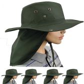 Dry Camping Neck Flap Green Boonie Hat