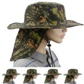 Men Summer Hat In Camouflage With Back Flapper