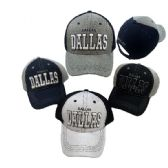 Air Mesh Back Solid Front Ball Cap Dallas