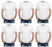 Yacht & Smith Mens First Quality Cotton Short Sleeve T Shirts Solid White Size S