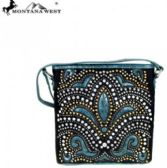 Montana West Bling Bling Collection Crossbody Bag Black Turquoise