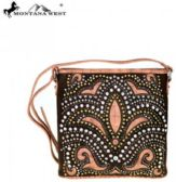 Montana West Bling Bling Collection Crossbody Bag Coffee