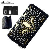 Montana West Bling Bling Collection Secretary Style Wallet