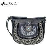 Montana West Concho Collection Crossbody Gray