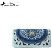 Montana West Concho Collection Wallet BLUE
