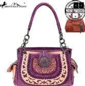 Montana West Concho Collection Concealed Carry Satchel Purple
