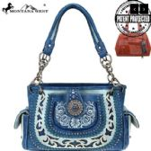 Montana West Concho Collection Concealed Carry Satchel BLUE