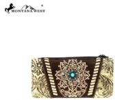 Montana West Concho Collection Wallet Brown