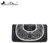Montana West Embroidered Collection Wallet Black