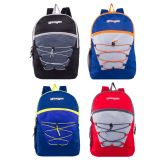 "17"" Classic Bungee Backpacks in 6 Assorted Colors"